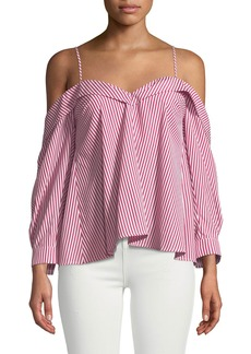 Bardot Paloma Striped Off-the-Shoulder Blouse