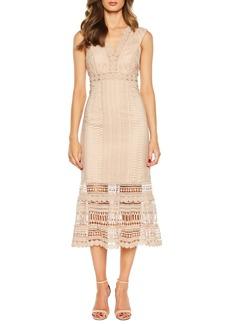 Bardot Petra Lace Tea Length Dress