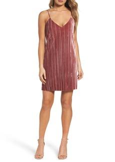 Bardot Pleat Velvet Slipdress