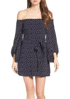 Bardot Polka Dot Off the Shoulder Dress