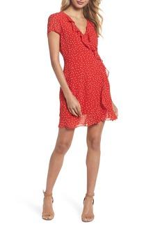 Bardot Polka Dot Ruffle Dress