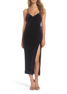 Bardot Raven Velvet Slipdress
