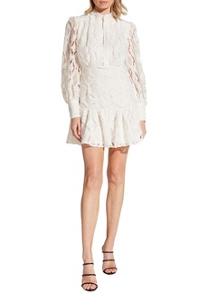 Bardot Remy Long Sleeve Lace Fit & Flare Dress