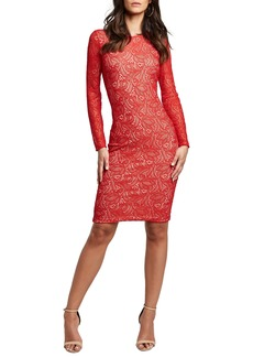 Bardot Rini Lace Long Sleeve Body-Con Dress