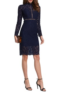 Bardot Rozie Long Sleeve Lace Dress