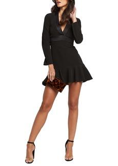 Bardot Ruffle A-Line Minidress