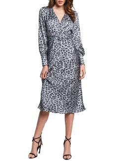 Bardot Sandiego Print Long Sleeve Midi Dress