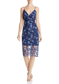 Bardot Sapphire Floral-Embroidered Dress