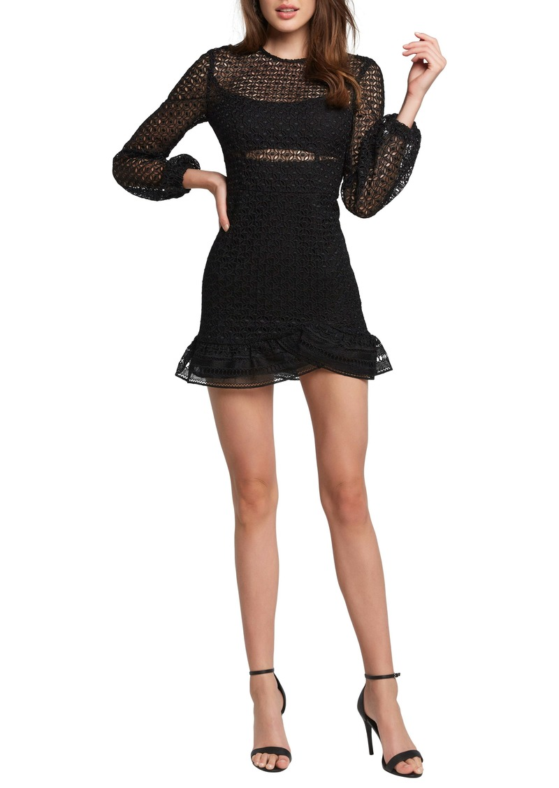 Bardot Savannah Long Sleeve Lace Minidress