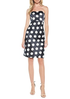 Bardot Sayer Dotted Tie Back Strapless Dress