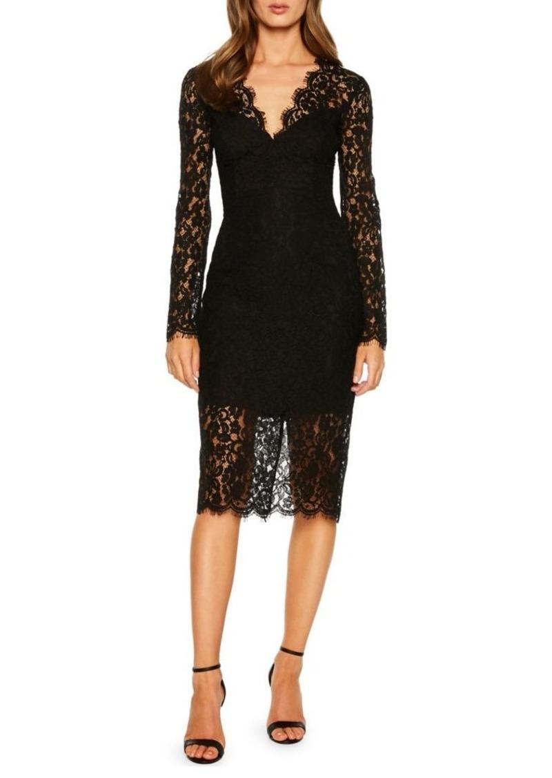 Bardot Scalloped Lace Sheath Dress