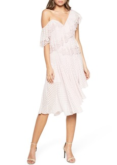 Bardot Señorita One-Shoulder Dot Chiffon Dress