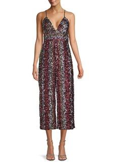 Bardot Sequin-Embellished Cropped Jumpsuit