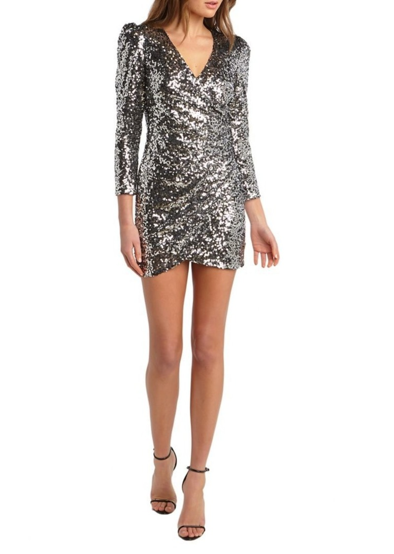 Bardot Sequin-Embellished Mini Dress