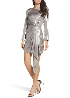 Bardot Shimmer Drape Front Dress