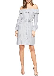 Bardot Sienna Off the Shoulder Shirtdress