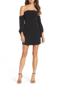 Bardot Skyline Off the Shoulder Sheath Dress