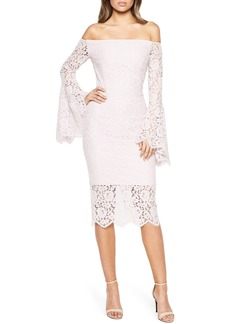 Bardot Solange Corded Lace Sheath Dress