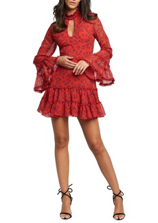 Bardot Sonny Long Sleeve Frill Minidress