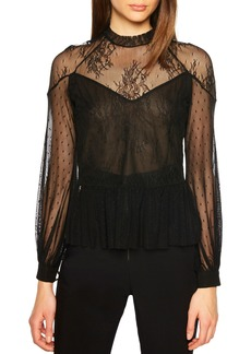 Bardot Splice Lace Blouse