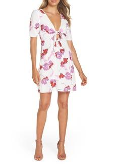 Bardot Stencil Flower Knot Front Dress