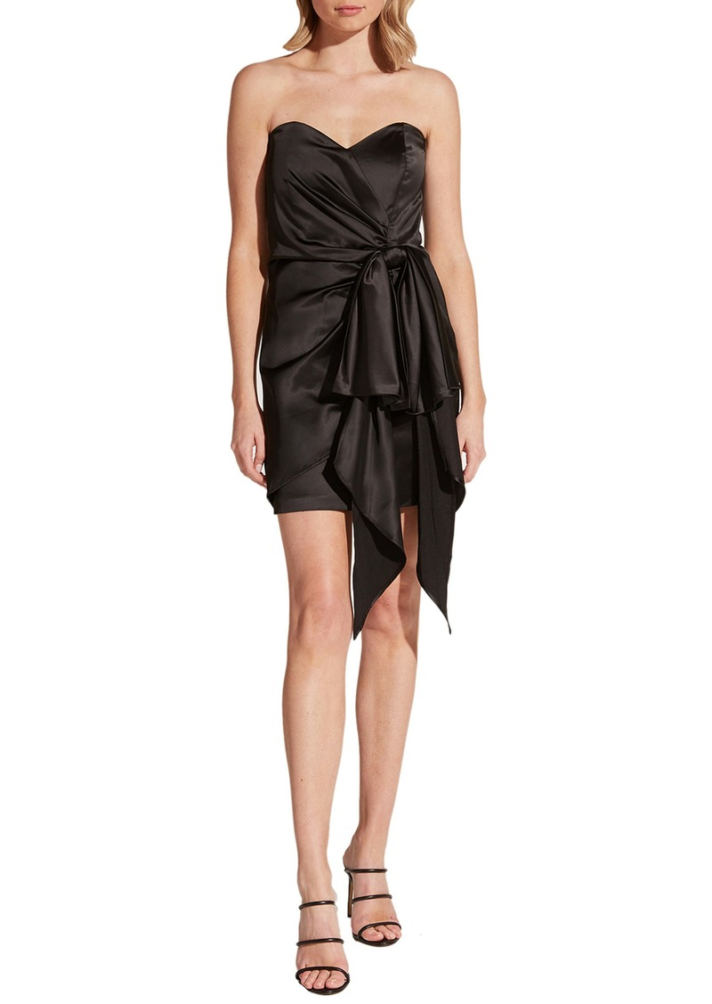 Bardot Strapless Satin Minidress