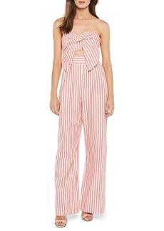 Bardot Stripe Strapless Jumpsuit