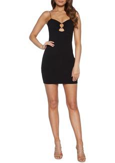 Bardot Sweetheart Ring Body-Con Minidress