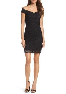 Bardot Tara Off the Shoulder Lace Dress