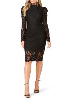 Bardot Taylah Long Sleeve Lace Cocktail Dress