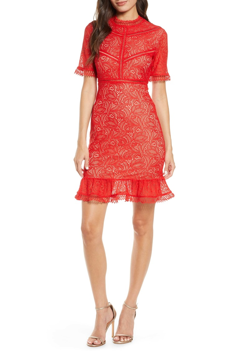 Bardot Theodora Lace Sheath Minidress