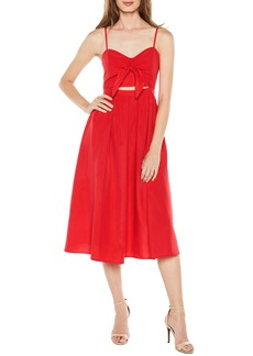Bardot Tie Front Midi Dress