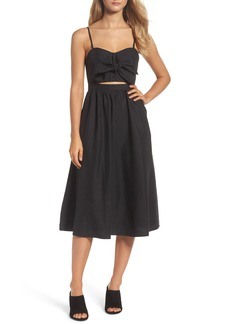Bardot Tie Front Midi Dress