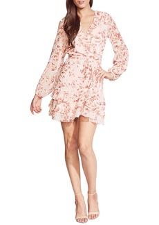 Bardot Triple Frill Long Sleeve Chiffon Minidress