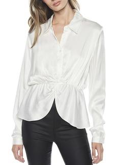 Bardot Twist Button Front Shirt