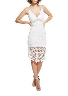 Bardot V-Neck Lace Dress