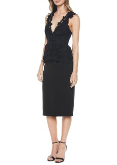 Bardot Valencia Peplum Lace Pencil Dress