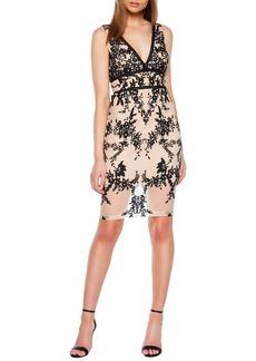 Bardot Victoria Flocked Pencil Dress
