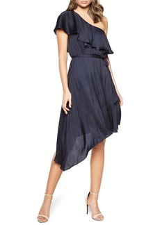 Bardot Waterfall One-Shoulder Dress