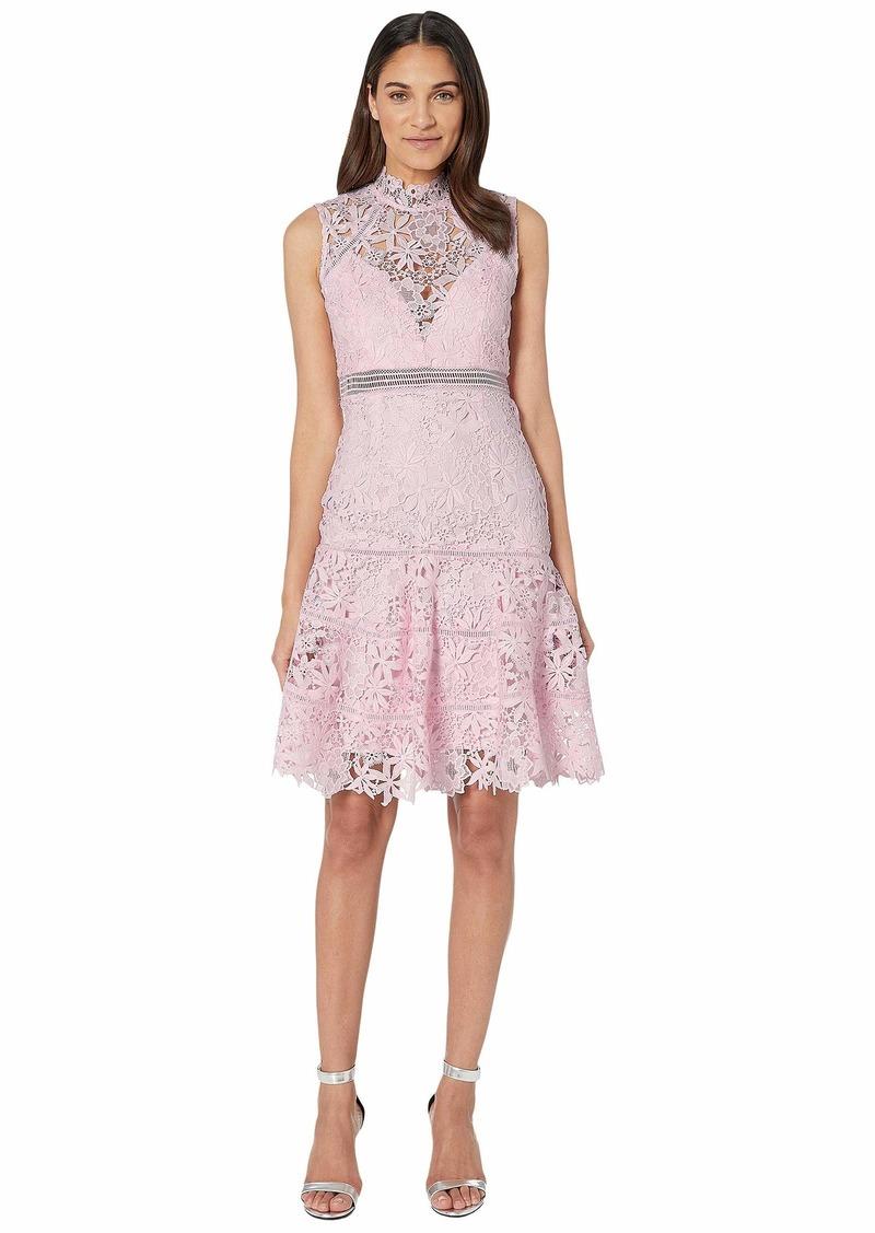 Bardot Women's high lace Neckline Slim fit Silhouette Party Dress  XL