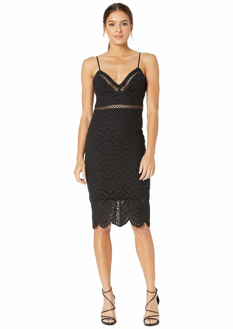 Bardot Women's Triangle Cups Fitted Bodice Sheer Skirt Party Dress  M