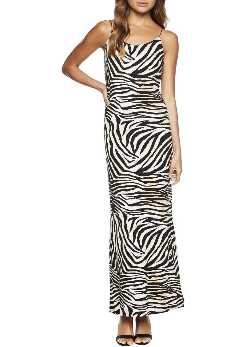 Bardot Zebra Print Maxi Dress