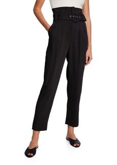 Bardot Belted High-Rise Ankle Pants