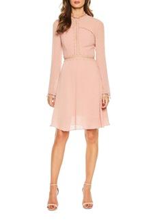 Bardot Cherie Dobby High-Neck A-Line Dress