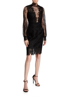 Bardot Clarissa Lace High-Neck Cocktail Dress