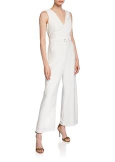 Bardot Cutout-Back Belted Jumpsuit