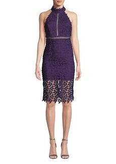 Bardot Gemma Lace Halter Cocktail Dress