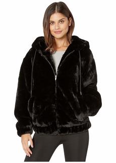 Bardot Gigi Zip Faux Fur Jacket