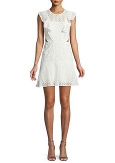 Bardot Kira Eyelet Frill Short Dress