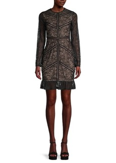 Bardot Lace Sheath Dress